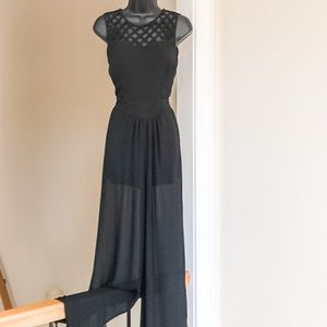 WANT and NEED sz XS black jumpsuit cute